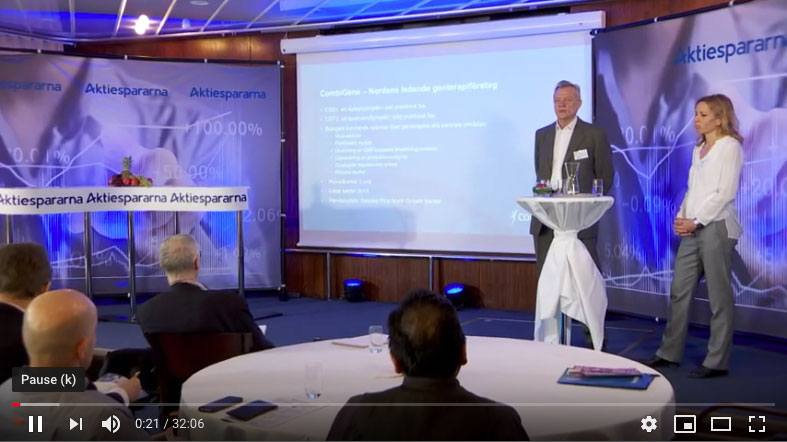 Aktiedagen in Stockholm – Company Presentation (ONLY IN SWEDISH)