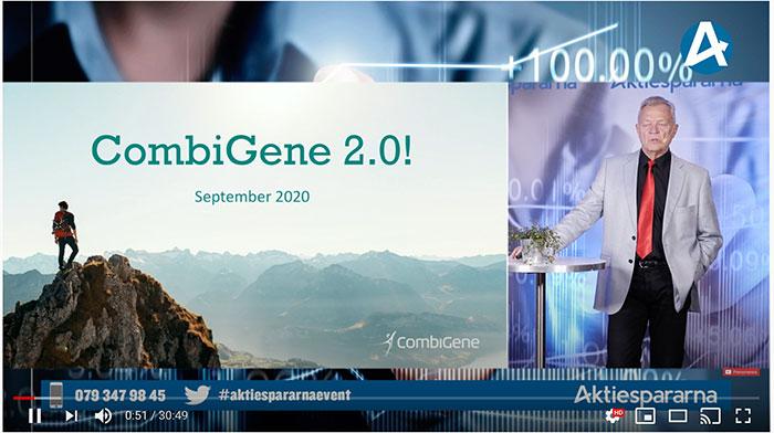 CombiGenes vd Jan Nilsson presenterar på Aktiedagen i Stockholm