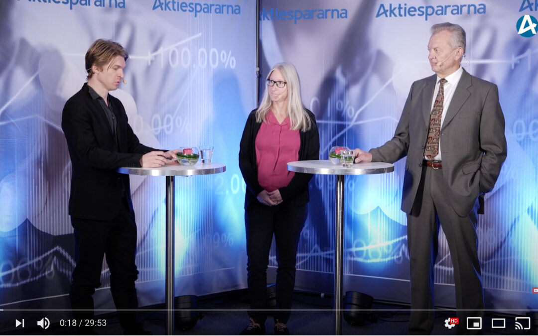 On October 19, CEO Jan Nilsson and Chief Research & Development Officer Karin Agerman presented CombiGene at Aktiespararna