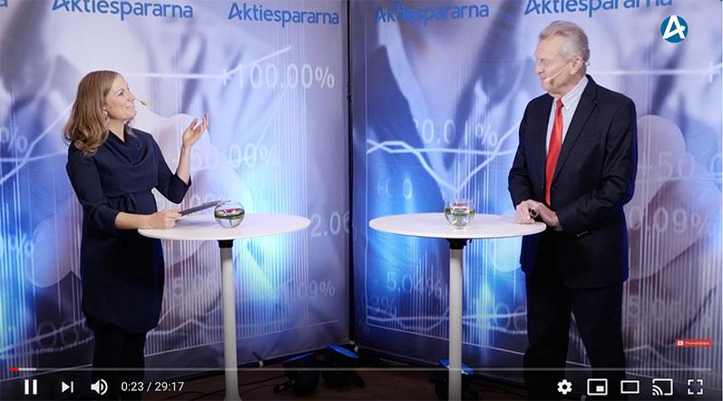 Den 10 november presenterade vd Jan Nilsson CombiGene på Aktiespararna